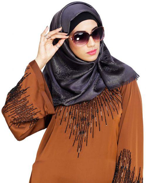Pretty Black Shimmer Hijab