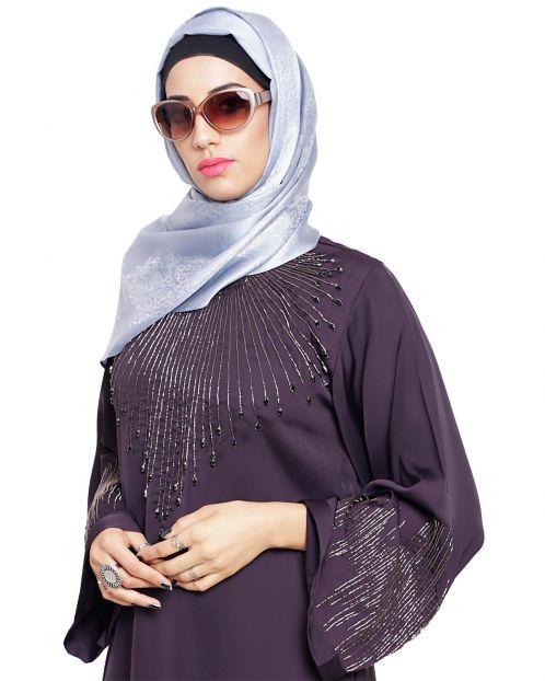 Pretty Grey Shimmer Hijab
