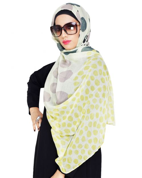 Polka Dot Print Cotton Hijab