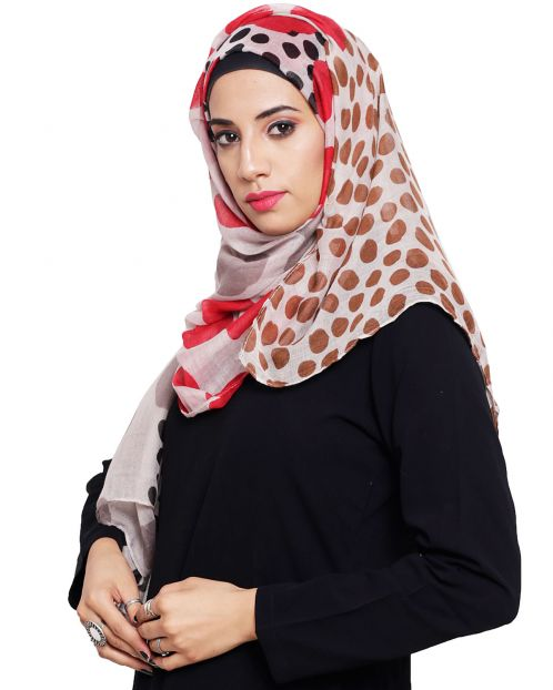Polka Dot Printed Cotton Hijaab