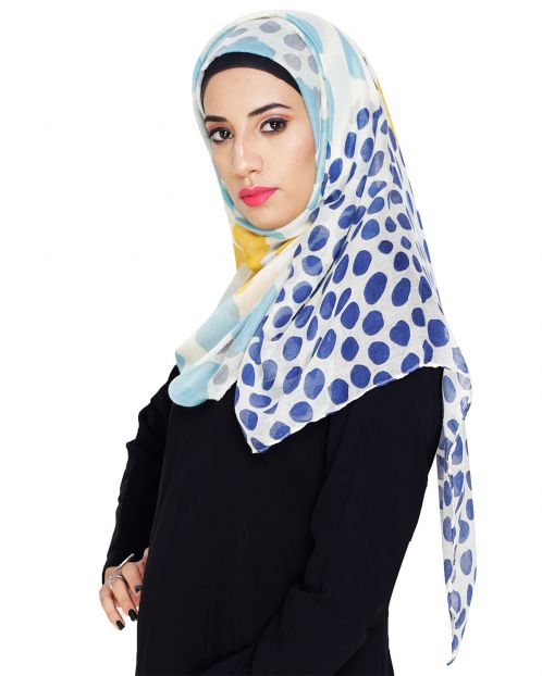 Polka Dot Printed Cotton Hijab