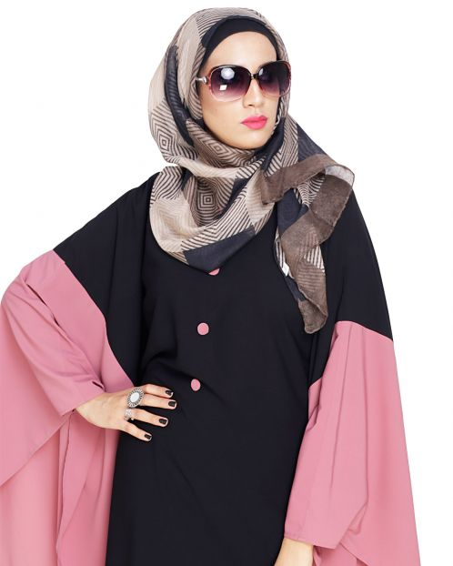 Brown Rhombus printed Hijab