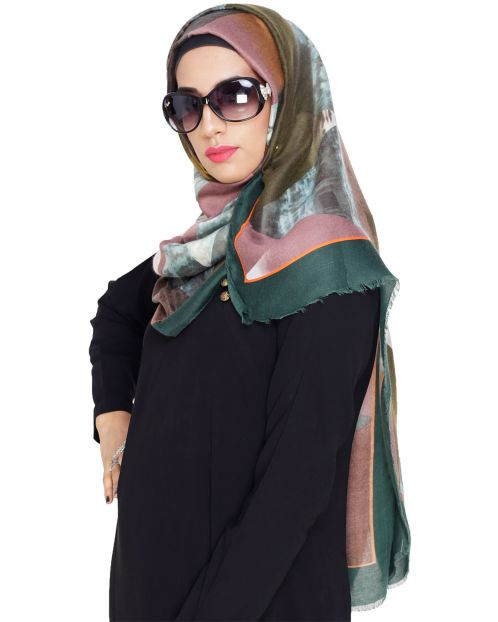 Dazzling Abstract Printed Hijab