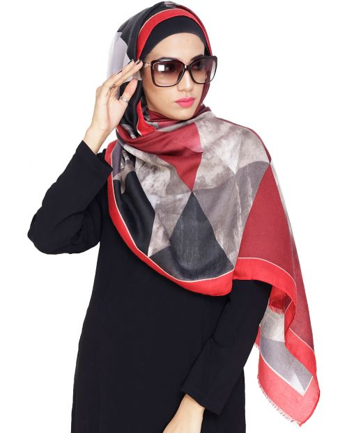 Dazzeling Abstract Printed Hijaab