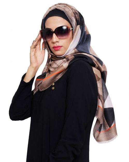 Dazzeling Abstract Printed Hijab