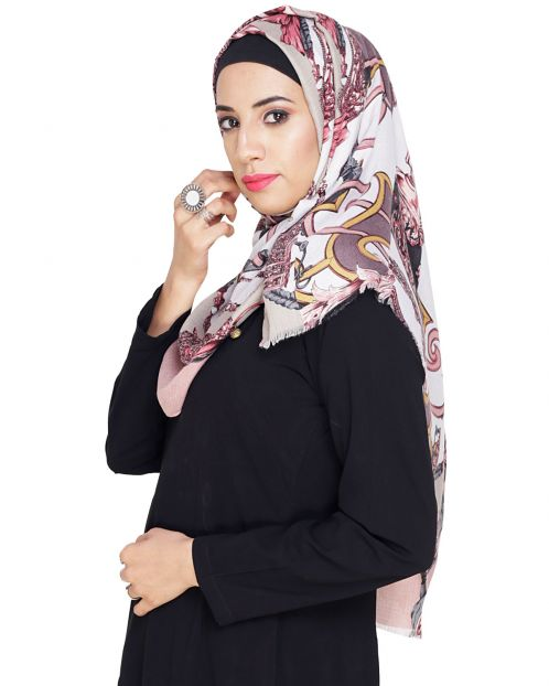 Gorgeous Abstract printed Hijaab