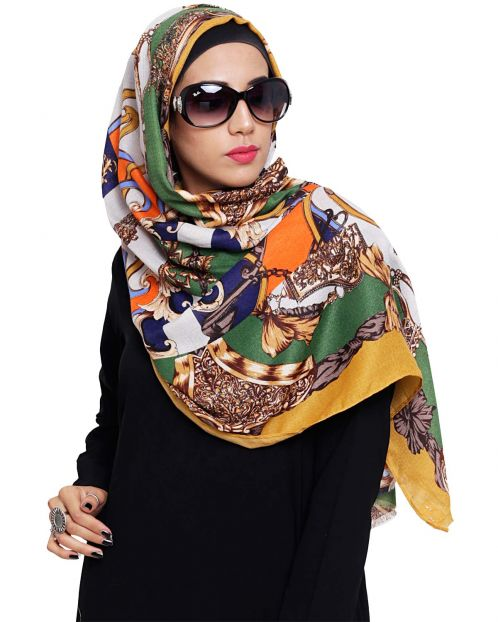 Gorgeous Abstract printed Hijab