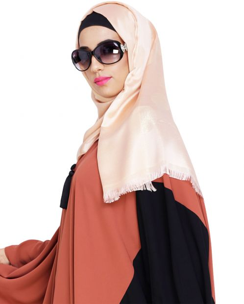 Golden Shimmery Peach Hijab