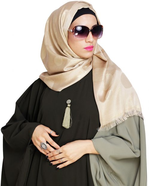 Golden Shimmer Beige Hijab