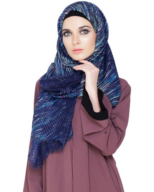 Shimmer Abstract Printed Hijab
