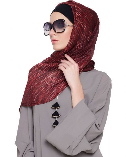 Shimmer Abstract Print Hijab