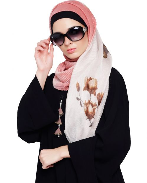 Shimmery Floral Print Hijab