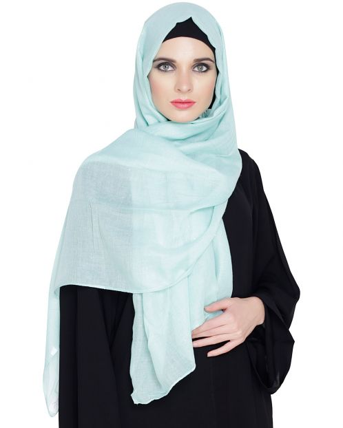 Sea Green Cotton Glitter Hijab