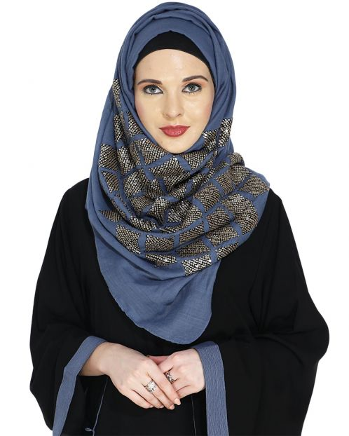 Jazzy Blue Party Wear Hijab