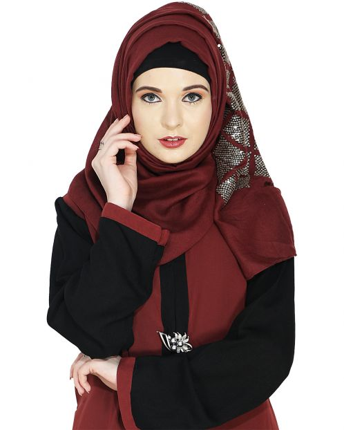 Jazzy Red Party Wear Hijab