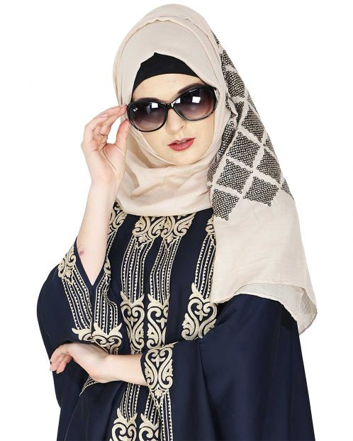 Jazzy Light Beige Party Wear Hijab