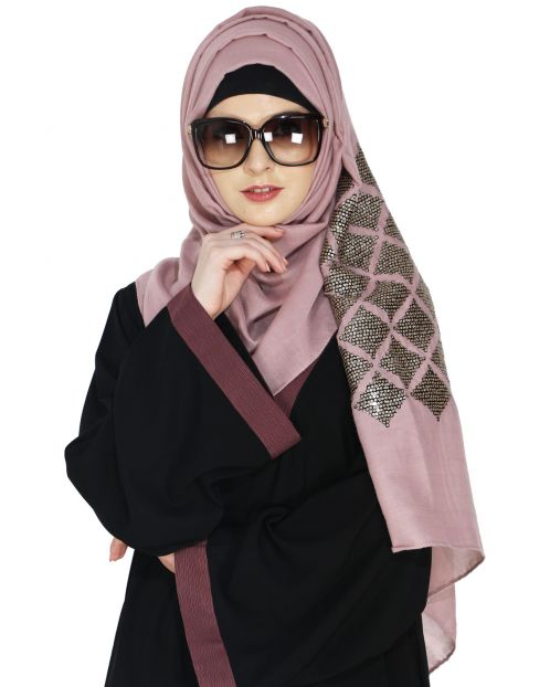 Jazzy Onion Pink Party Wear Hijab