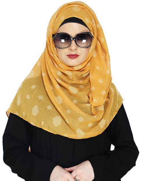 Beatific Yellow Casual Hijab