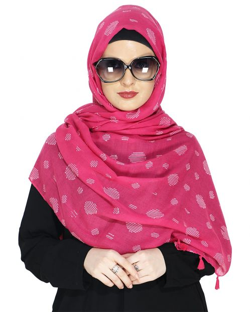 Beatific Pink Casual Hijab