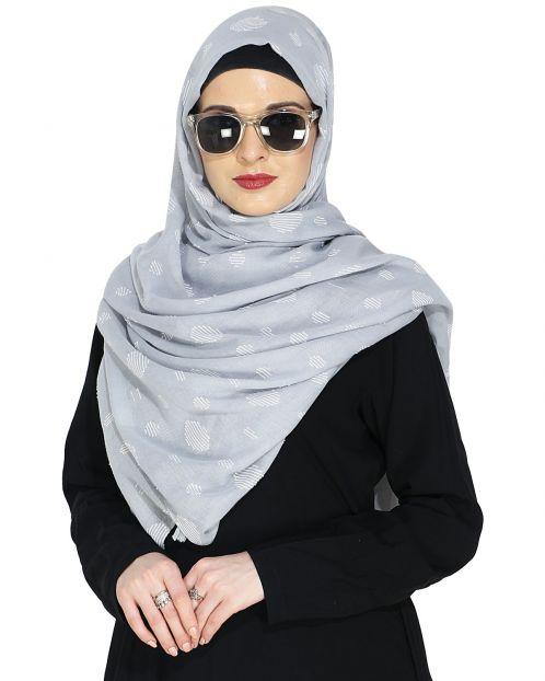 Beatific Grey Casual Hijab