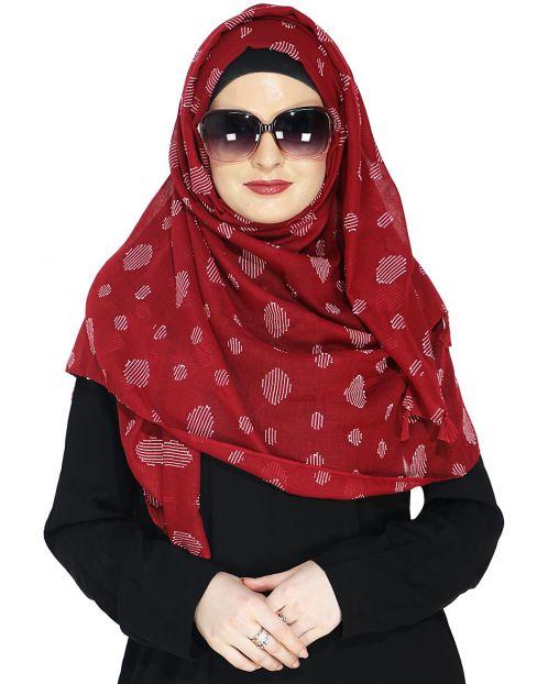 Beatific Deep Maroon Casual Hijab