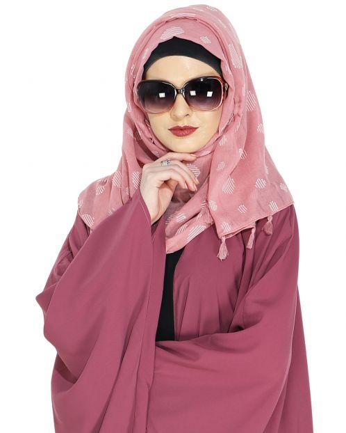 Beatific Peach Casual Hijab