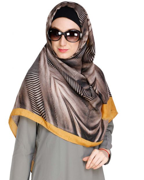 Zebra Print Woolen Hijab