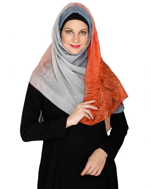 Forget Me Not Orange Hijab