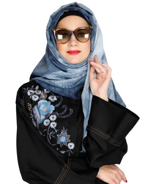 Vintage Blue winter wear Hijab