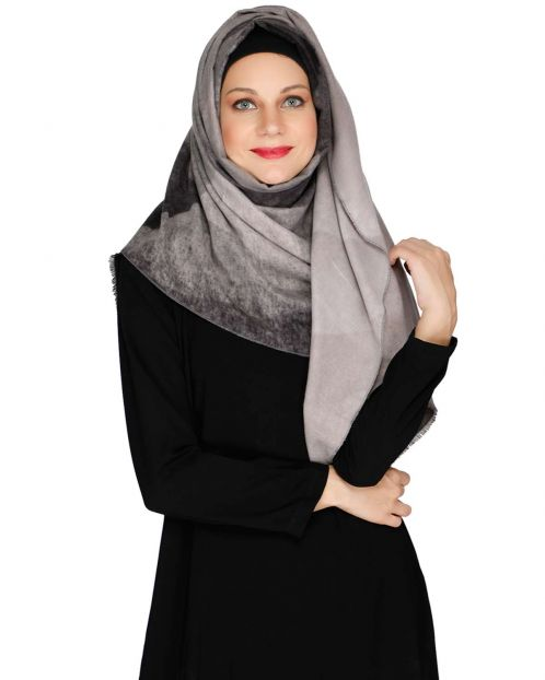 Vintage Black winter wear Hijab