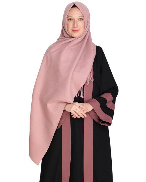 Solid Pink Woolen Hijab