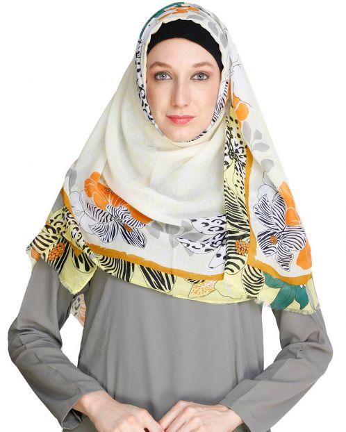 Spring Fall Yellow Hijab