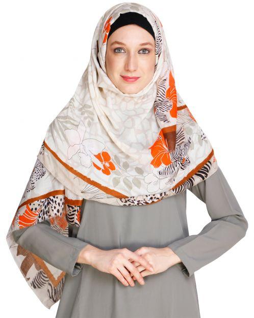 Spring Fall Beige Hijab