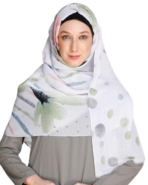 Colour Splash Grey Hijab