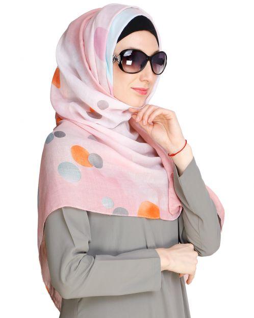 Shaded Polka dots Pink Hijab