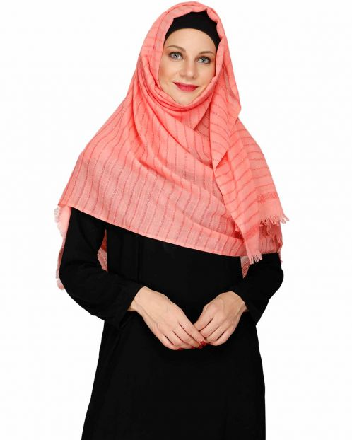 Sparkling Pink Party Wear Hijab