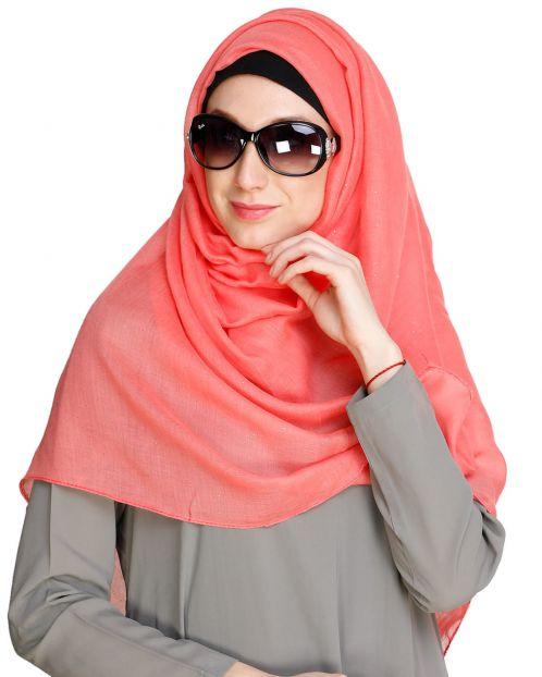 Glitter Sprinkled Bright Pink Hijab
