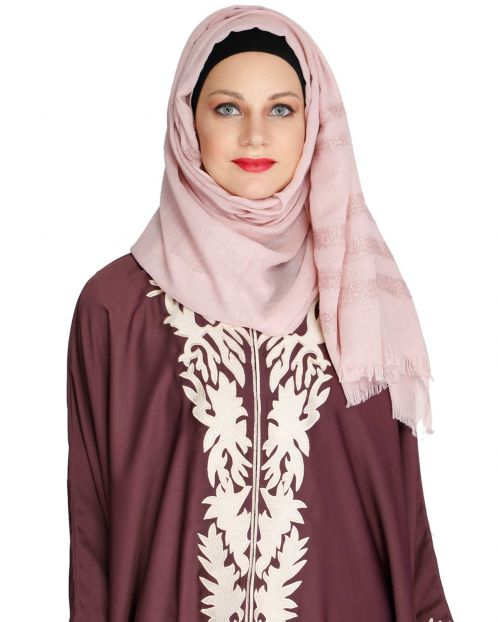 Blush Pink Party Wear HIjab