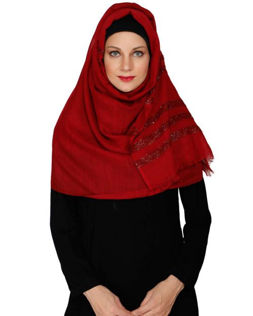 Maroon Party Wear HIjab