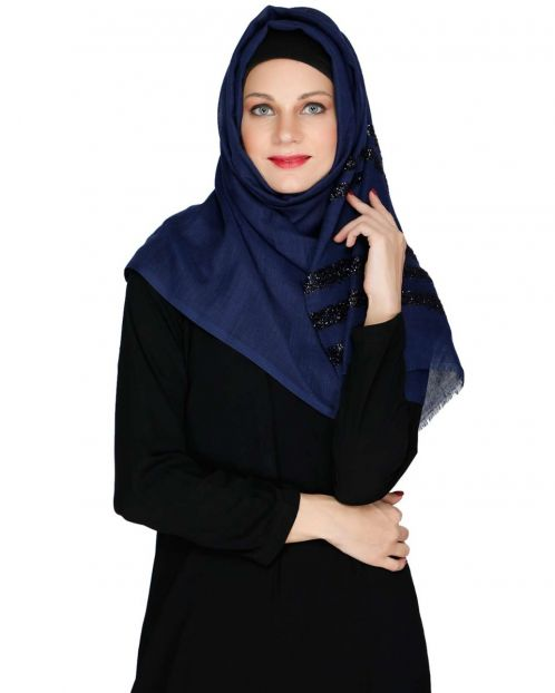 Royal Blue Party Wear HIjab
