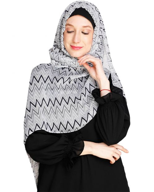 Chevron Black Hijab