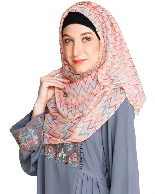 Chevron Red&Pink Hijab