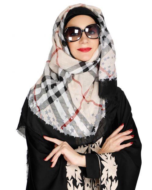 Mattstar Black Casual Hijab