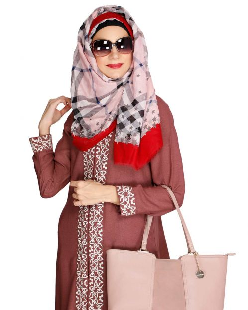 Mattstar Red Casual Hijab