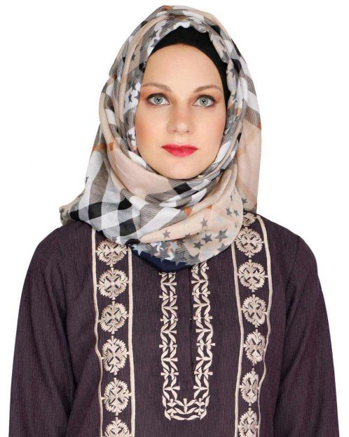 Mattstar Dark Brown Casual Hijab