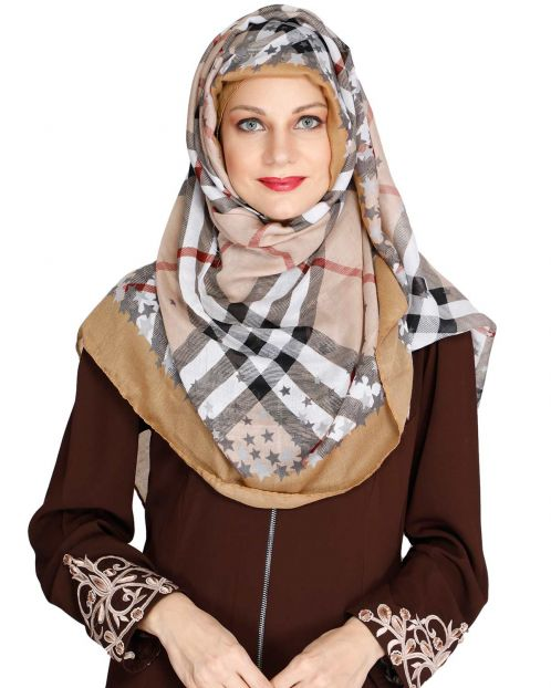 Mattstar Brown Casual Hijab