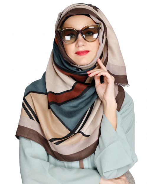 Bold And Solid Brown Casual Hijab