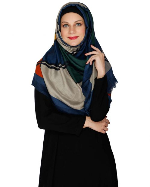 Bold And Solid Blue Casual Hijab