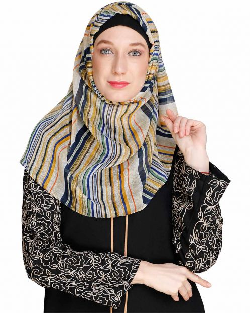 Multi colour Stripes Hijab