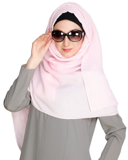 Solid Colour Baby pink Hijab